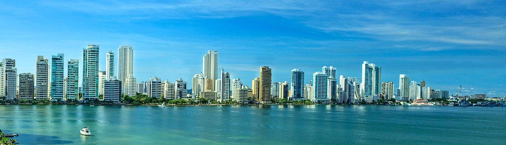 Vista Bahía Cartagena de Indias