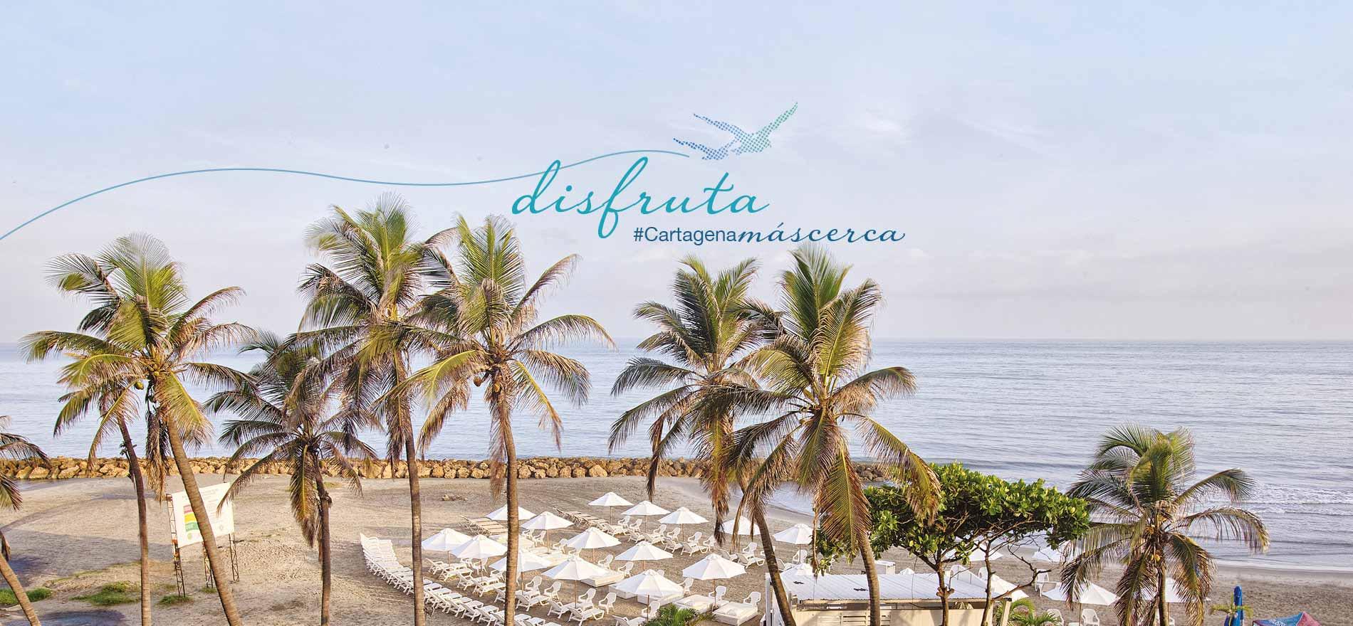 Disfruta Cartagena más Cerca, playa frente al hotel capilla del mar